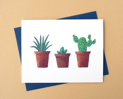 Succulent Trio Greeting Card