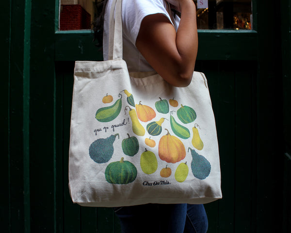You Go Gourd Canvas Tote Bag