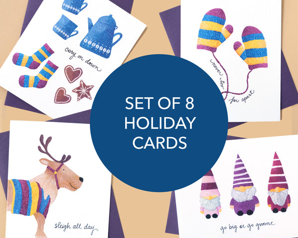 Set of 8 Holiday Greeting Cards (2020)