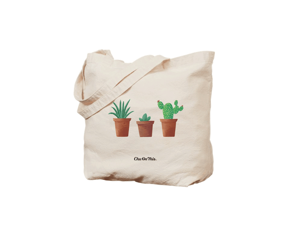 Succulent Trio Canvas Tote Bag