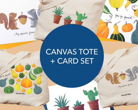 Canvas Tote + Card Set