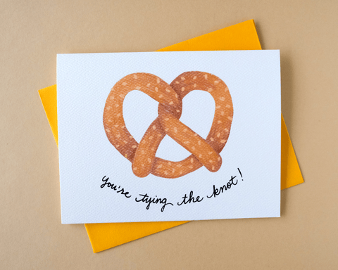 You're Tying the Knot Pretzel Card