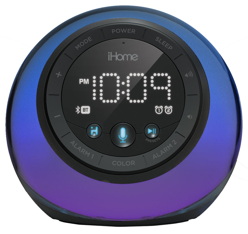 iHome  iBT297BC Bluetooth Color Speaker USB Charge Voice Control BK