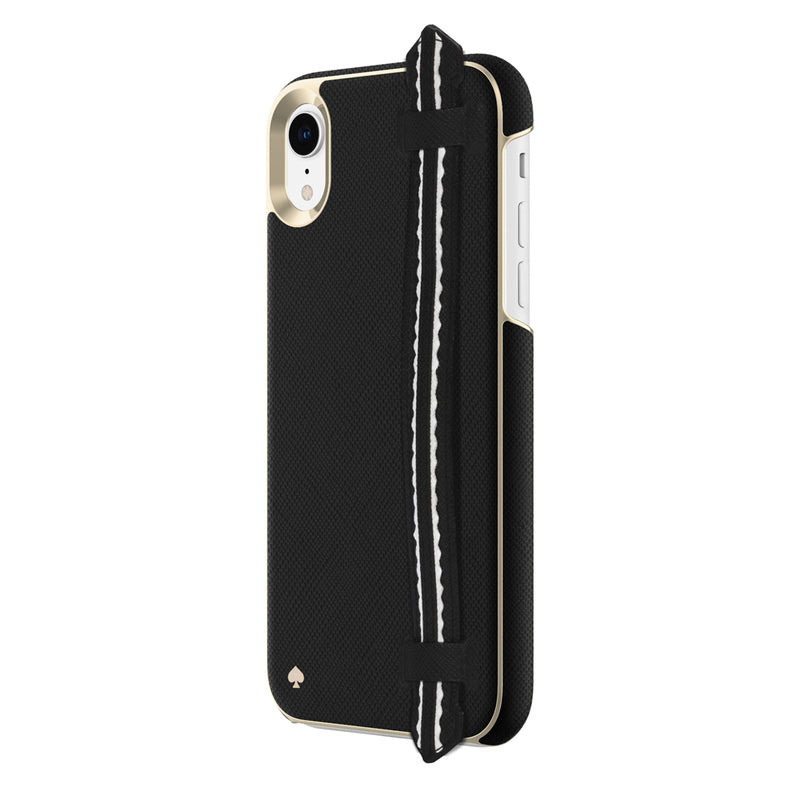 Kate Spade  KSIPH117BSTRP Wrap Strap Case iPhone XR Scallop Black