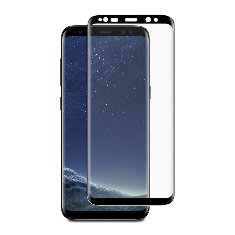 Blu Element  BTGGS8CB 3D Curved Glass Case Friendly Galaxy S8 Black
