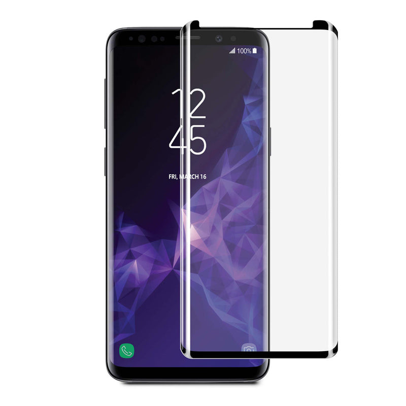 Blu Element  BTGS9CB 3D Curved Glass Case Friendly Galaxy S9 Black