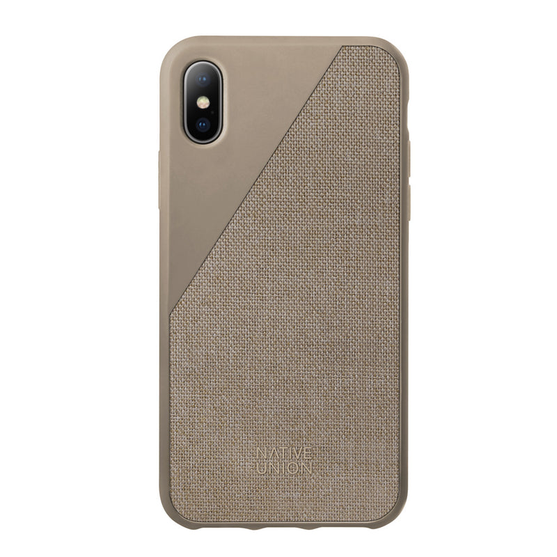 Native Union  CCAVTAUCVNP17 Clic Canvas Case iPhone X Grey