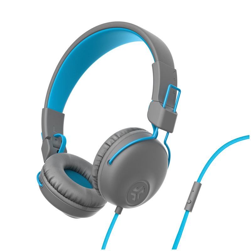 JLab Audio  IFCHASTUDIOGRYBLU4 Studio On-Ear Headphones Gray/Blue
