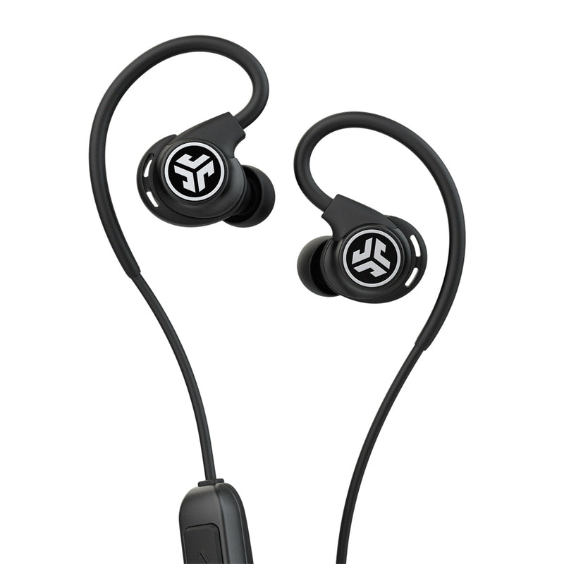 JLab Audio  IFCEBFITSPORTRBLK123 Fit Sport Wireless Earbuds Black