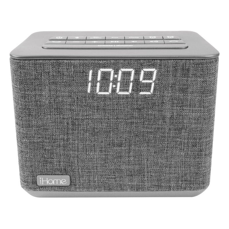 iHome  iBT232GC Bluetooth Dual Alarm FM Clock Radio USB Charge Grey