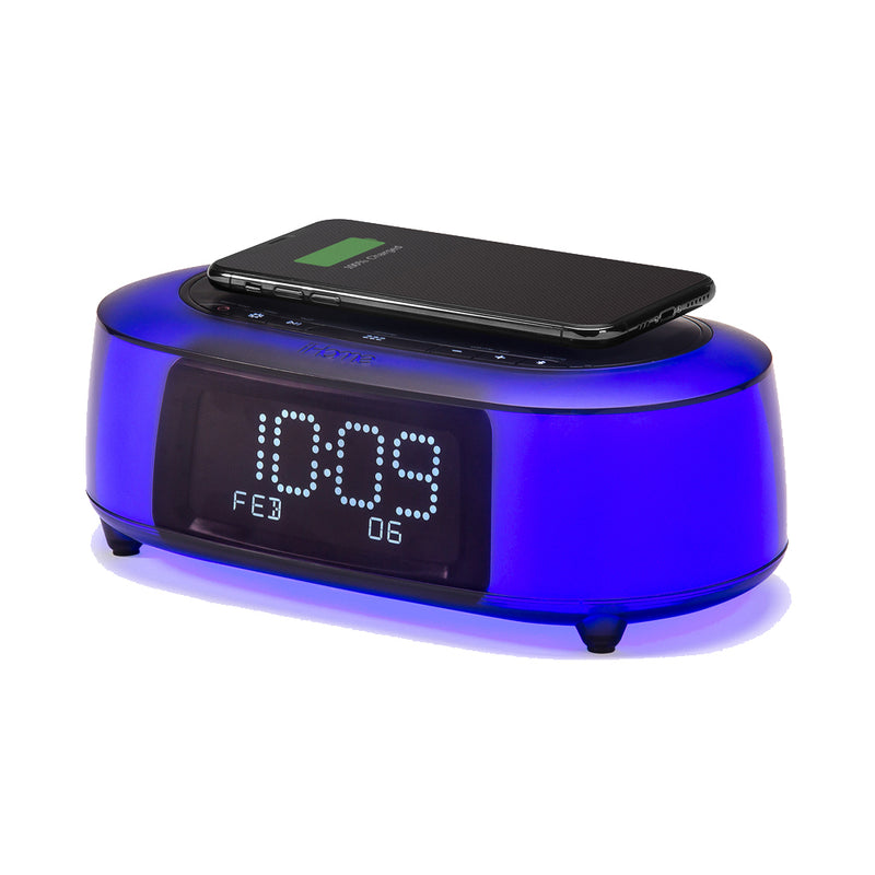 iHome  iBTW281V2BC TimeBoost Glow Color Changing Alarm Clock Black