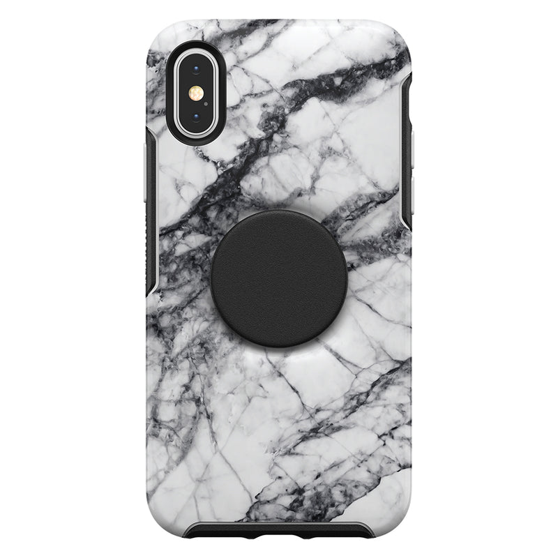 Otterbox  7761766 Otter + Pop Symmetry iPhone XS/X White Marble