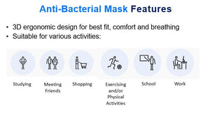 Anti-Bacterial ATB-UV+ Silver® Mask for Adults (Non-medical)