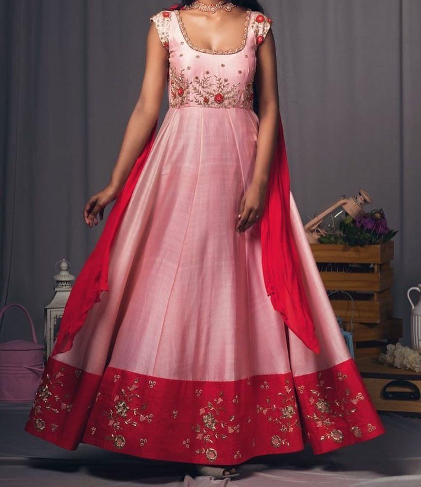 Adhesive Pink Color Embroidery Work Lehenga Suit