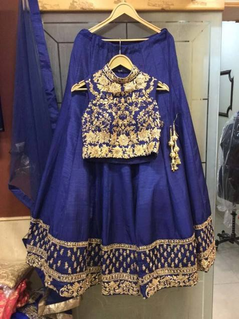 Blue Color Tapeta Silk Designer Lehenga Choli