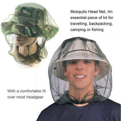 Fabric Midge Mosquito Insect Hat Bug Mesh Head Net
