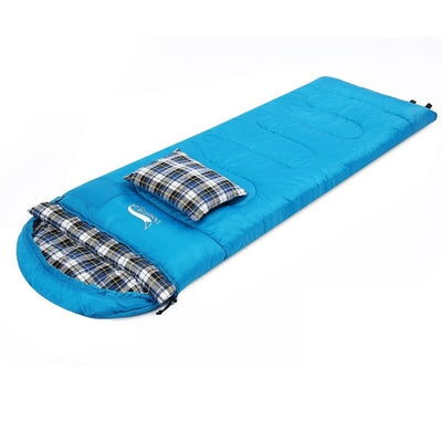 Cotton Flannel Sleeping Bags with Pillow, Portable for Camping Sleeping Bag