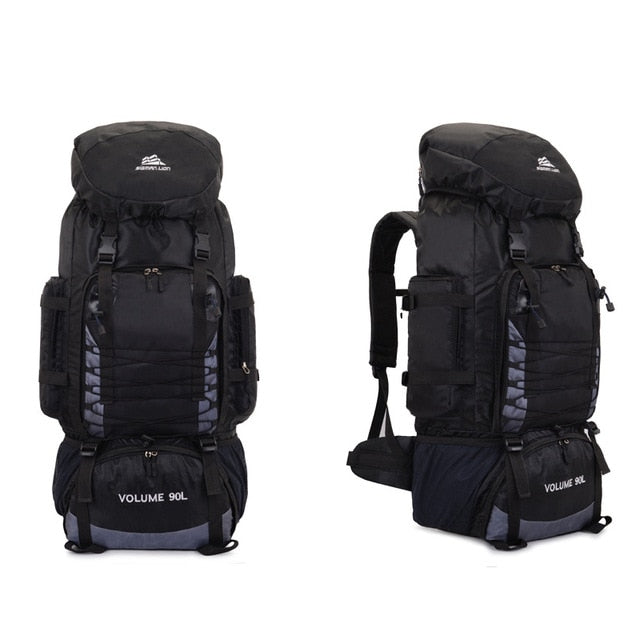Large 90L Camping/Hiking Backpack and Medium 50L Hiking Backpack