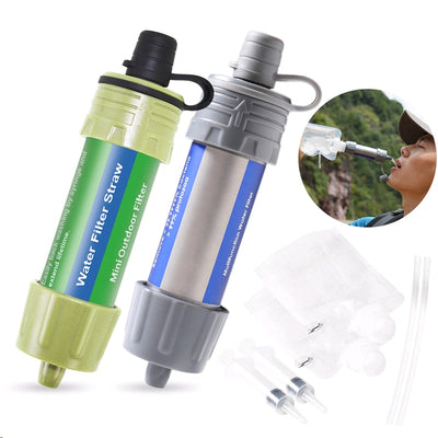 Outdoor Camping Equipment Survival Water Filter Straws