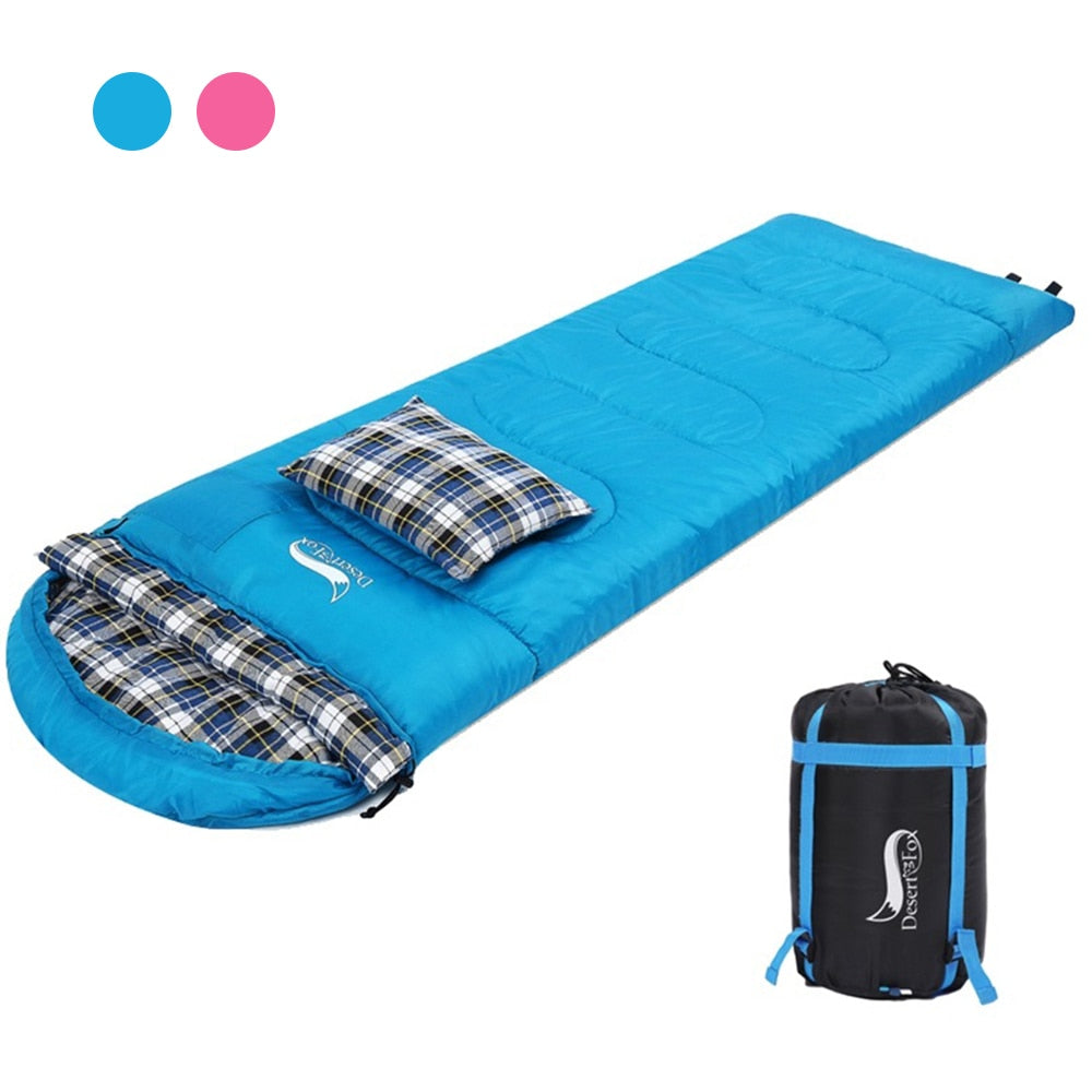 Soft Flannel Winter Sleeping Bags with Pillow for camping