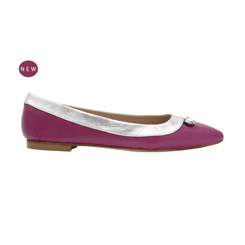 L'Amore A Punta deluxe pointed flat nappa magenta