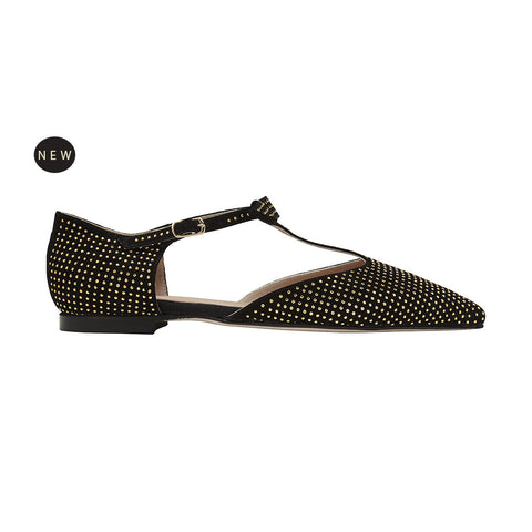 Bellezza pura: Stella D'Oro deluxe pointed flat suede black