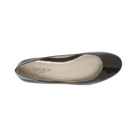 Flat-a-porter ballerina dark brown (testa di muro) patent leather