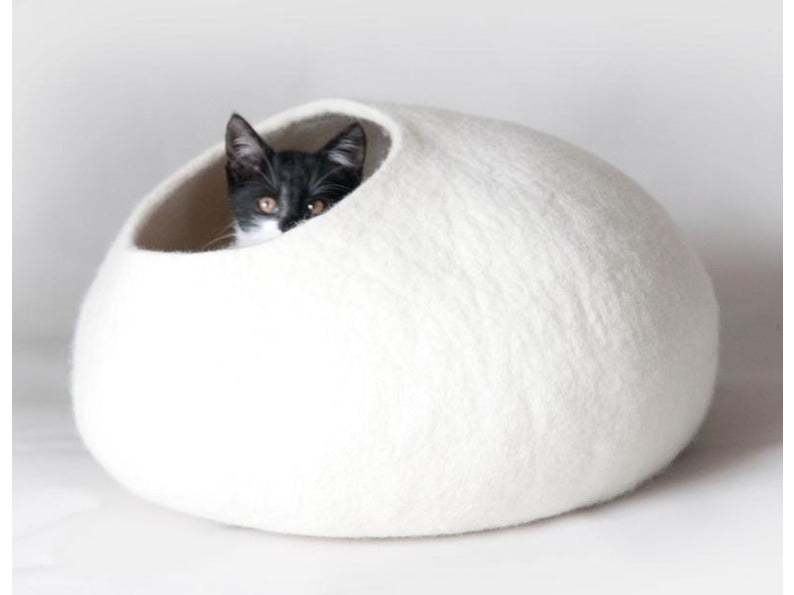 White Felt Pet Cocoon