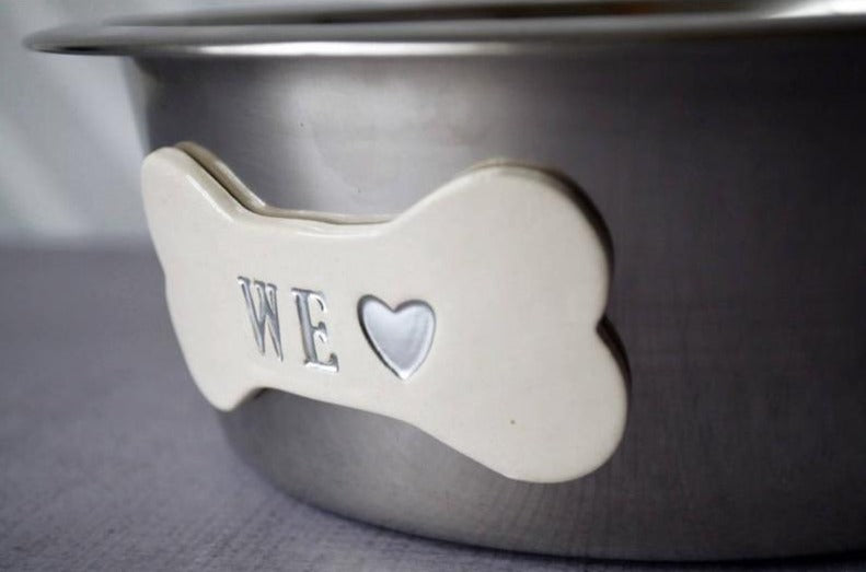 Throw Me a Bone Personalized Dog Bowl Set