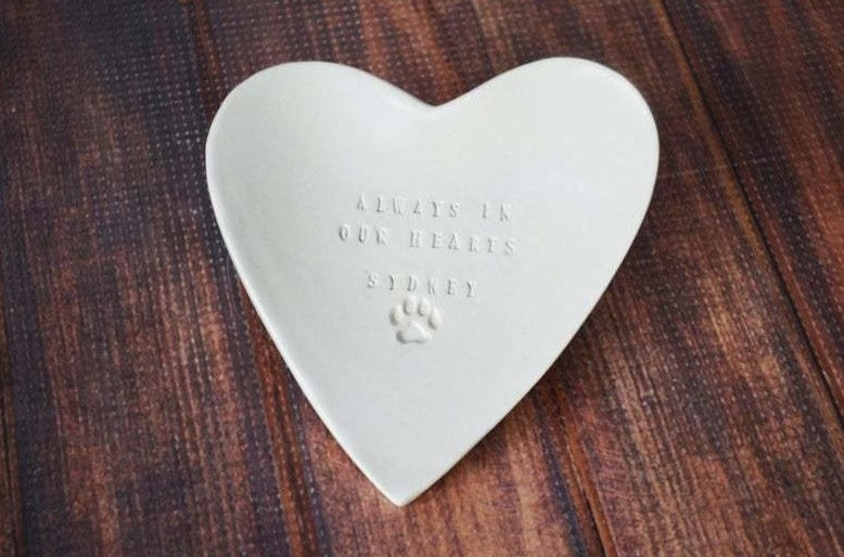 Remember Forever Personalized Heart-Shaped Bowl