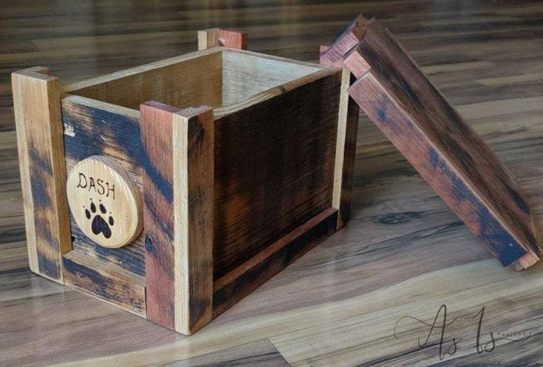 Reclaimed Rustic Wood Memory Box