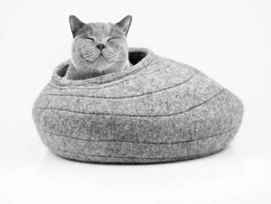 Contemporary Wool Cat Cocoon