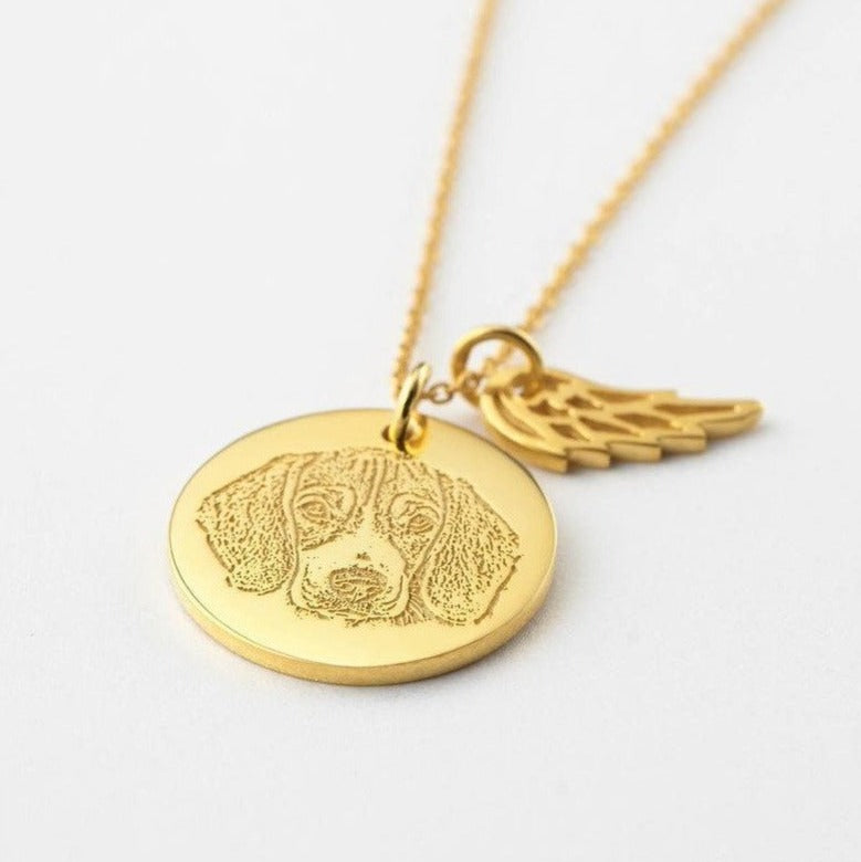 Pet Angel Portrait Necklace