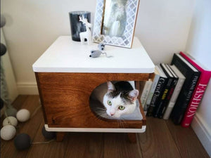 Retro Chic Swedish Cat House