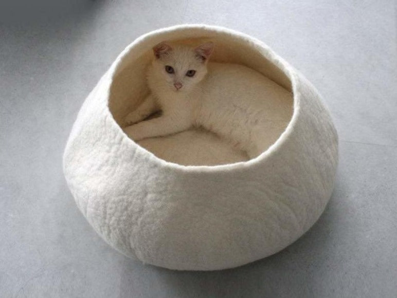 Felted Wool Feline Cat Cave