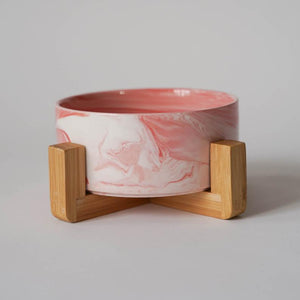 Midcentury Modern Ceramic Dog Bowl