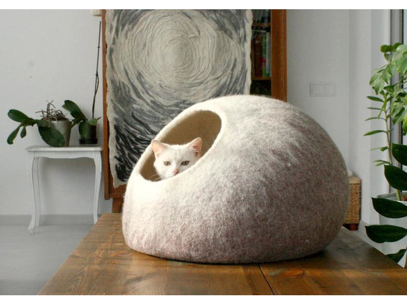 Felted Wool Cat Cocoon