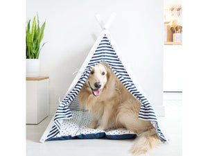 Striped Dog Tent