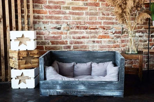 Upcycled Wooden Crate Pet Bed