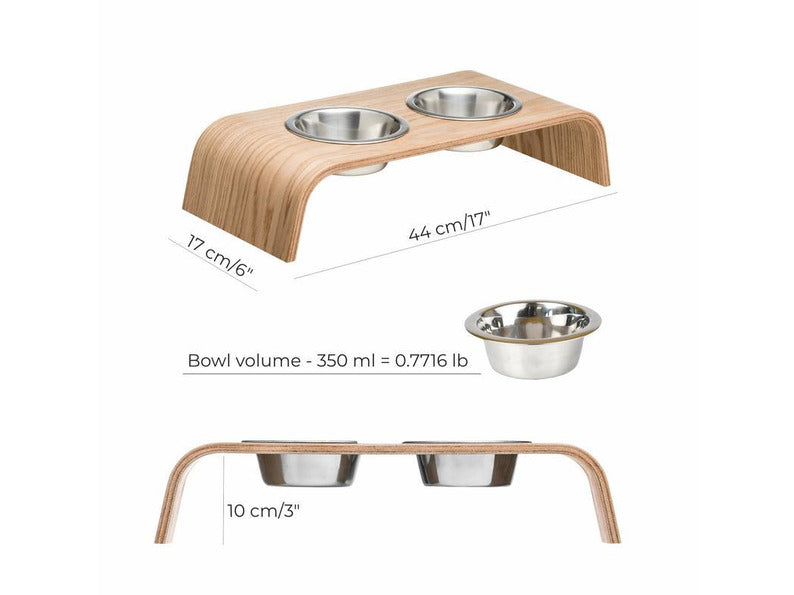 Pet Bowls with Wooden Stand