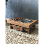 Classic Farmhouse Bowl Feeding Stand