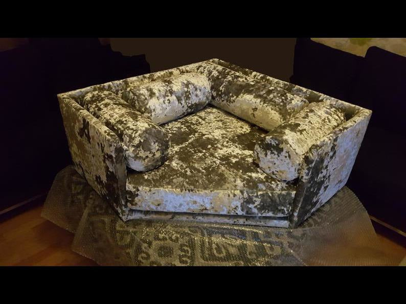 Lap of Luxury Crushed Velvet Corner Bed