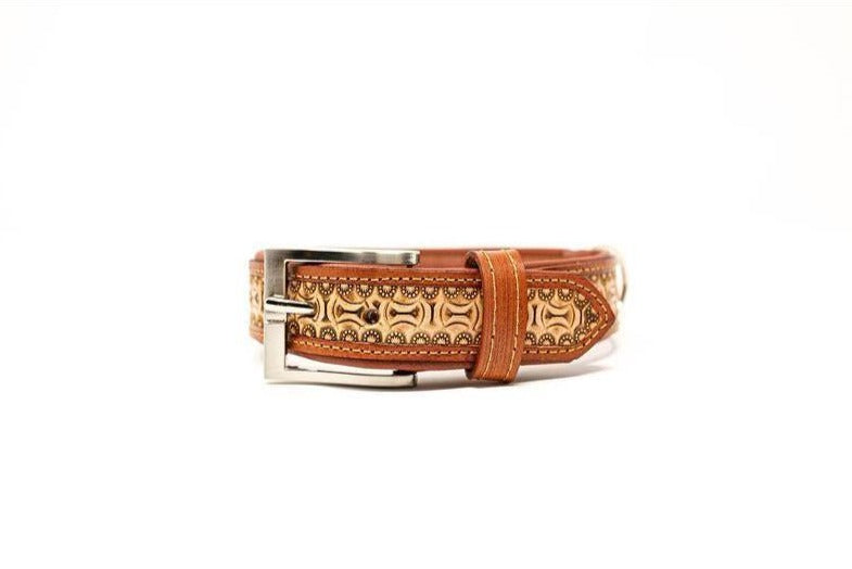 Hand-Tooled Leather Dog Collar
