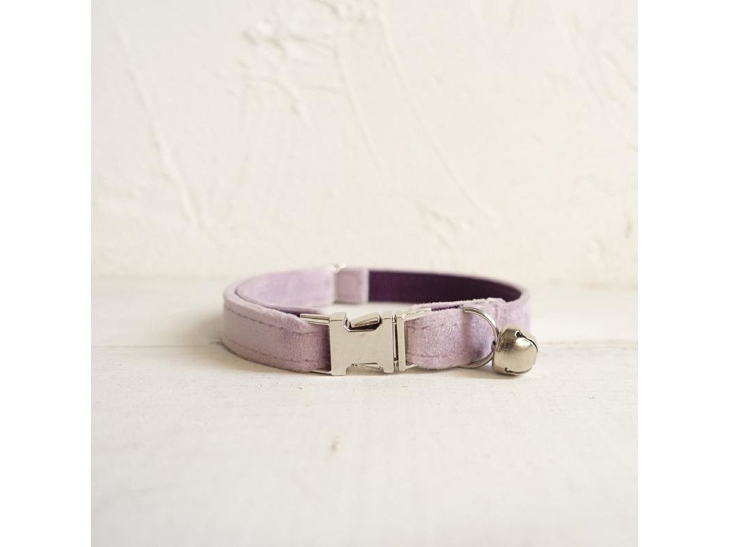 Cotton Cat Collar with Bell