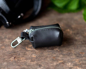 Personalized Leather Poop Bag Holder