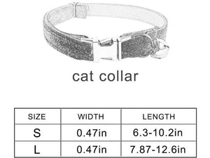 Velvet Cat Collar with Bell