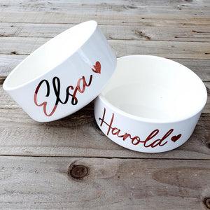 Personalised Hand Made Ceramic Bowl