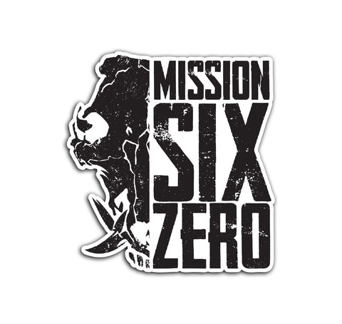 Half Boar Skull Mission Six Sticker