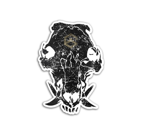 Boar Skull Sticker