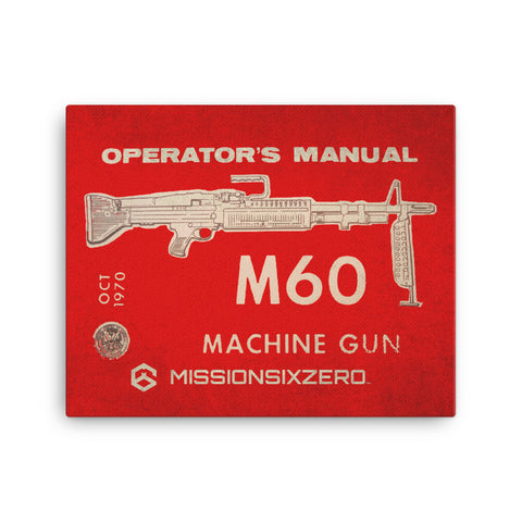 M60 Operator's Manual Canvas